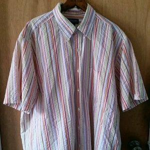 Lands' End Men's Multi Color button down shirt